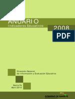 Anuario Indicadores Educativos 2008