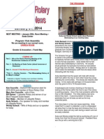 Rotary Club of Moraga Newsletter for Jan. 21, 2014