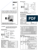CPM1A-PRT21 Instruction Sheet
