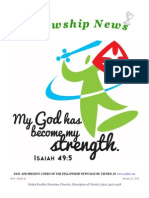 January 22, 2014 Fellowship News