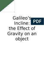 Galileo's Incline