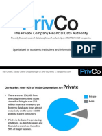 PrivCo's Academic Presentation