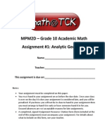 Math Assignment