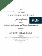 Diabelli Anton Studi op39 per chitarra