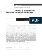 MARTINS, GUERRA_Durkheim, Mauss e a atualidade da escola sociológica francesa_art Sociologias 2013