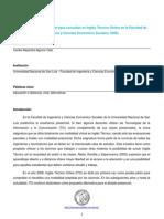 Aguirre Céliz, C. A. 2012 - Uso de la herramienta Chat para consultas en Inglés Técnico Online