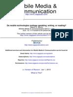 Baron, N. S. 2013 - Do Mobile Technologies Reshape Speaking, Writing, Or Reading