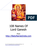 108 Names of Lord Ganesh