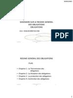 Seminaire Sur Le Regime General Des Obligations Lda2 2012-2013