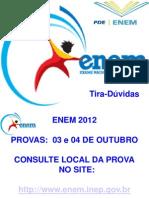 Tira-Dúvidas ENEM-2012