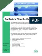 Clarifier Dry Bacteria