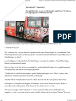 Stalin Bus Begins Driving Through St Petersburg - The Telegraph
