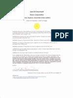 Special Assumpsit, News Corporation (ARDO)