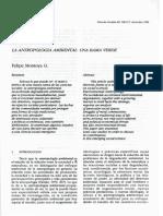 La Antropología Ambiental. Felipe Montoya