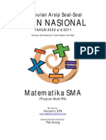 Kumpulan Arsip Soal Un Matematika Sma Program Ipa1