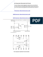 Voltage Comparator Information and Circuits