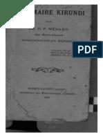 Grammaire Kirundi - PF Menard