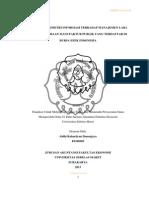 Pengaruh Asimetri Informasi Terhadap Manajemen Laba Pada Perusahaan Manufaktur Publik Yang Terdaftar Di Bursa Efek Indonesia