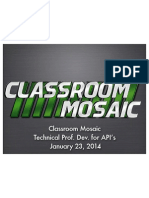 Classroom Mosaic Prof. Dev. for API's 12314