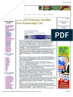 2014-2015 February Deadline Free Scholarships