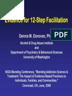 Evidence for 12-step addiction programe