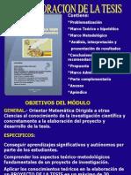 LA ELABORACION DE LA  TESIS.pptx