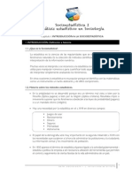 Socioestadística, análisis estadístico en sociología