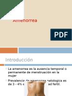 presentacion amenorreas