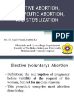 Elective Abortion