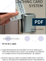 Punching Card System