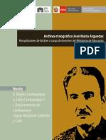 Arguedas, José María. Libro Lambayeque 1