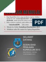 SOSIALISASI PENILAIAN KURIKULUM 2013