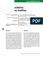 A. Estrés oxidativo y diabetes mellitus
