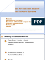 Fast Methods for Transient Stability Prediction in Power Systems