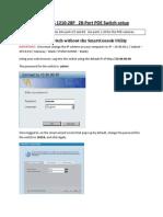 Dlink DES1210-28P Switich Configuration