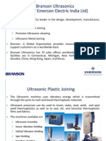 Branson Ultrasonic Introduction