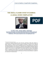The Small Claims Court in Zambia- A Legal Guide Compilation