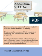 Classroom Setting EDU