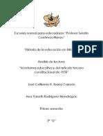 analisis de la lectura ¨La reforma educativa¨