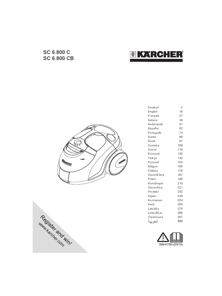 Karcher Sc6800c Sc6800cb Part 1