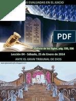 Lección 04 - Las Obras evaluadas en el Juicio