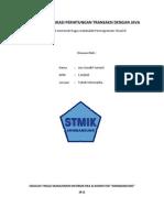 Pembuatan Aplikasi Perhitungan Transaksi Dengan Java