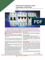 Protección de instalaciones contra sobrecargas y cortocircuitos_Parte 1; 2; 3; 4