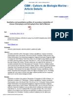 Phyto Chemistry, algae, macroalgae
