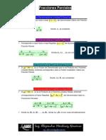 Fracciones Parciales 4 Casos