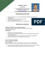 Curriculum Vitae Jmama.