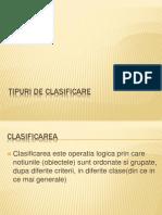 Tipuri de Clasificare