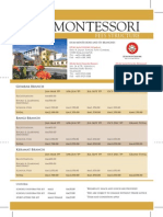 Brochure IIUM Montessori Fee Structure