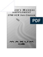 Owner's Manual Supplement 2700 SCR Sun Cruiser