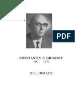 Constantin Giurescu Bibliografie